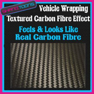 1M X 1525mm CAR INTERIOR EXTERIOR WRAP FEELS LOOKS LIKE REAL CARBON FIBRE